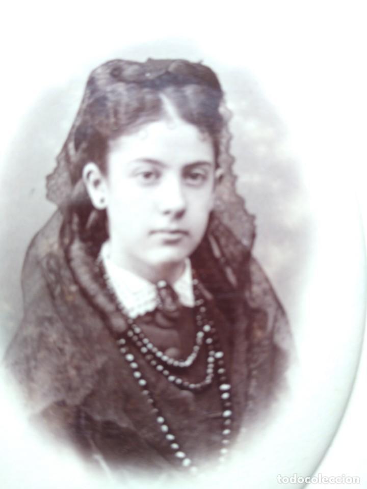 Fotografía antigua: Retrato joven dama.. Otero fotógrafo Madrid - Foto 2 - 204154346