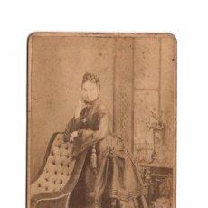 Fotografía antigua: CARTE DE VISITE. ESTUDIO FOTOGRÁFICO. E. JULIÁ. MADRID. 1871. Lote 204196176
