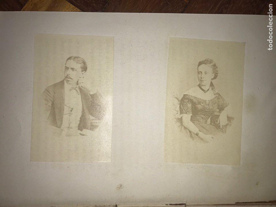 Fotografía antigua: 1868. 2 CDV. CARLISMO. DON CARLOS DOÑA MARGARITA. LA SOLUCIÓN ESPAÑOLA 1868. - Foto 2 - 204635473