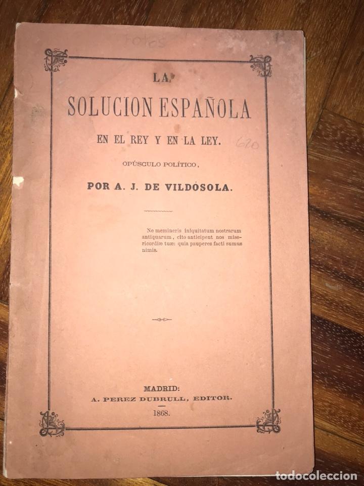 Fotografía antigua: 1868. 2 CDV. CARLISMO. DON CARLOS DOÑA MARGARITA. LA SOLUCIÓN ESPAÑOLA 1868. - Foto 3 - 204635473