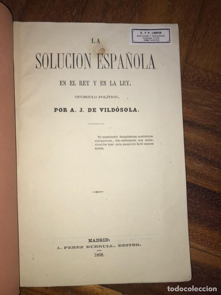 Fotografía antigua: 1868. 2 CDV. CARLISMO. DON CARLOS DOÑA MARGARITA. LA SOLUCIÓN ESPAÑOLA 1868. - Foto 4 - 204635473