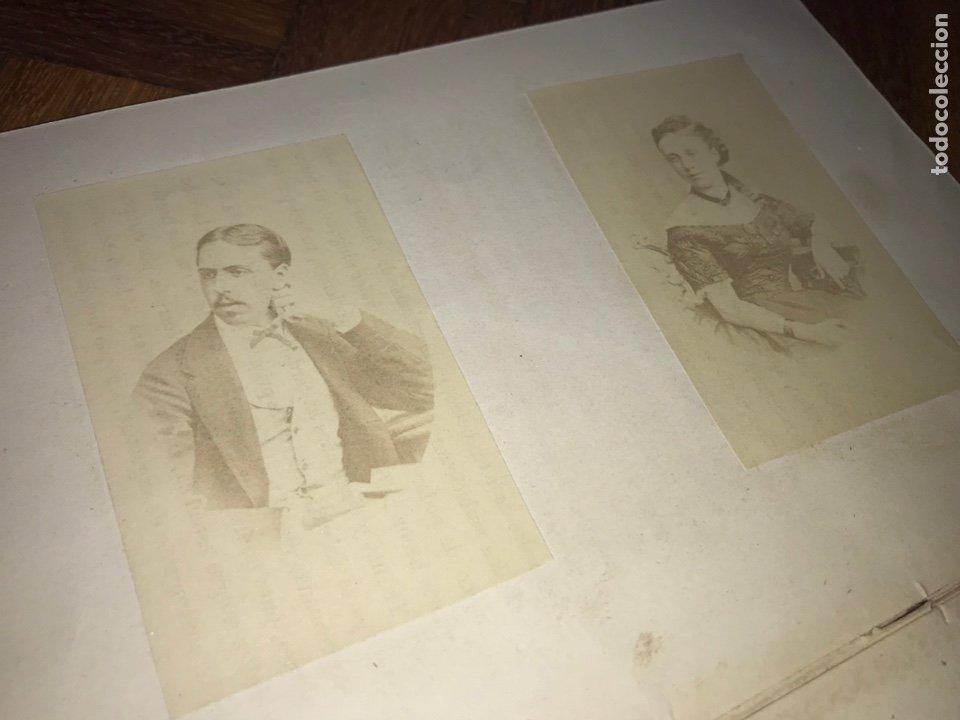 1868. 2 CDV. CARLISMO. DON CARLOS DOÑA MARGARITA. LA SOLUCIÓN ESPAÑOLA 1868. (Fotografía Antigua - Cartes de Visite)