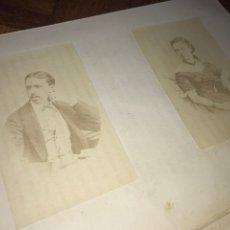 Fotografía antigua: 1868. 2 CDV. CARLISMO. DON CARLOS DOÑA MARGARITA. LA SOLUCIÓN ESPAÑOLA 1868.. Lote 204635473