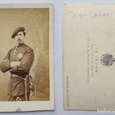 Fotografía antigua: DON CARLOS VII DE BORBON - CDV LE JEUNE - LEVITSKY - CARLISMO PRETENDIENTE REY - CARTA DE VISITA. Lote 205396067