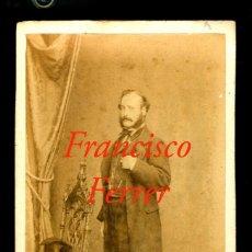 Fotografía antigua: FRANCISCO FERRER - 1890 - FOTOGRAFIA LEFEBVRE - PARIS. Lote 207139020