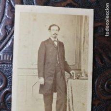 Fotografía antigua: FOTOGRAFÍA ANTIGUA.CARTA/CARTE DE VISITA. CABALLERO .FOTÓGRAFO M.HEBERT. MADRID.. Lote 207415838