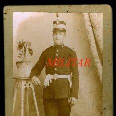 Fotografía antigua: MILITAR - MADRID - FOTOGRAFIA LA PARISIEN - 1890'S. Lote 209628892