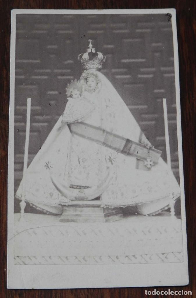 FOTOGRAFIA TIPO ALBUMINA TIPO CDV, VIRGEN POSIBLEMENTE DE JAEN, MIDE 9,5 X 6 CMS. (Fotografía Antigua - Cartes de Visite)