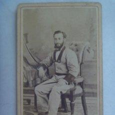 Fotografía antigua: GUERRA DE CUBA : CDV DE MILITAR VOLUNTARIO DE CAZADORES, SIGLO XIX. DE E. MESTRE PETIT, HABANA. Lote 212032111