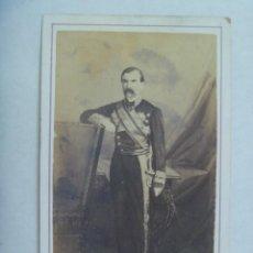 Fotografía antigua: GUERRA DE CUBA : CDV DEL GOBERNADOR DE LA ISLA, GENERAL DOMINGO DULCE, SIGLO XIX. FREDERICKS, HABANA. Lote 212033140