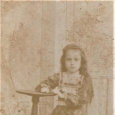 Fotografía antigua: PRECIOSO RETRATO DE UNA NIÑA - FOTÓGRAFO DESCONOCIDO - FINALES SIGLO XIX PRINCIPIOS XX. Lote 212046040