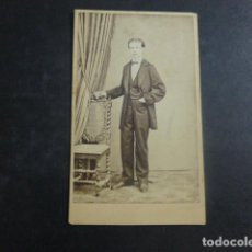 Fotografía antigua: CARTE DE VISITE RETRATO DE FRANCISCO VIDAL HACIA 1865. Lote 212371026