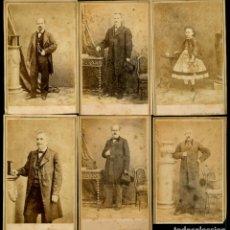 Fotografía antigua: FOTOGRAFIA - HOSTENC - BARCELONA - 1865 - 6 CARTES DE VISITE. Lote 212985023