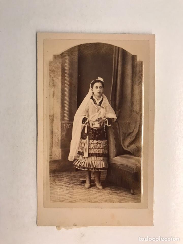 CDV, CARTE DE VISITE, FOTOGRAFO: J. DERREY Y M. TOLEDO, VALENCIA (FIN SIGLO XIX) JOVEN .. (Fotografía Antigua - Cartes de Visite)