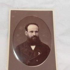 Fotografía antigua: FOTOGRAFIA ALBUMINA TIPO CDV DE CABALLERO, SIGLO XIX, FOTO DEBAS HERMANOS, MADRID, MIDE 10 X 6 CMS.. Lote 214127836