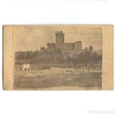 Fotografia antica: CASTILLO DE LA MOTA - MEDINA DEL CAMPO. 13-12-1875. FOTO CDV: SÁNCHEZ HEREDERO. DEDICADA Y FECHADA.. Lote 215957190