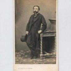 Fotografia antica: RETRATO DE PERSONAJE POR IDENTIFICAR, FOTO: LUDOVISI Y SU SEÑORA, VALENCIA.. Lote 215958048