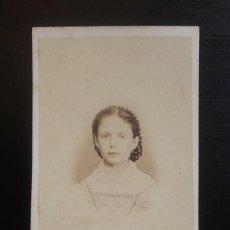 Fotografía antigua: CDV INFANTA DÑA ISABEL Y PRÍNCIPE DE ASTURIAS. J. LAURENT FOTOG. 39, CARRERA DE S. GERÓNIMO. MADRID.. Lote 217638933
