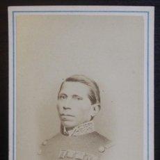 Fotografía antigua: CDV GENERAL TOMÁS MEJÍA, MÉXICO A. LIEBERT & Cº PARÍS. Lote 217639473