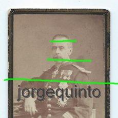 Fotografía antigua: MILITAR. FAMILIA GONZÁLEZ-MORO. YECLA, MURCIA. S.XIX. FOTÓGRAFO DOMINGO GARCÍA Y HERMANO. ALBACETE. Lote 219249853