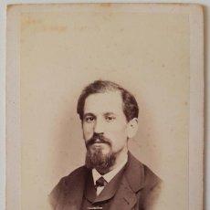 Fotografía antigua: ANTONIO GARCÍA. RETRATO DE CABALLERO. HACIA 1875. CARTE DE VISITE. Lote 219748968
