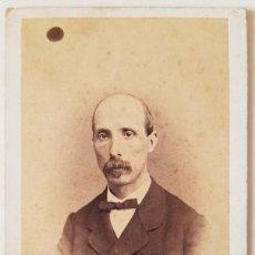 Fotografía antigua: ANTONIO GARCÍA. RETRATO DE CABALLERO. HACIA 1871. CARTE DE VISITE. Lote 219751651