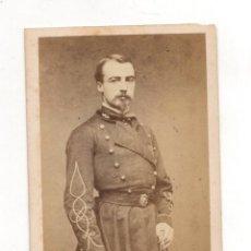 Fotografía antigua: CARTE DE VISITE MILITAR MAYER & PIERSON. PARIS. Lote 220842697