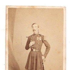 Fotografía antigua: CARTE DE VISITE MILITAR. EUGÉNE DE PARIS. TOULON. Lote 220844091