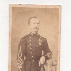 Fotografía antigua: CARTE DE VISITE MILITAR. BURGAUD PHOT. ROCHEFORT. Lote 220844782