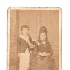 Fotografía antigua: CARTE DE VISITE FOTOGRAFIA MARIN Y OTERO. SAN SEBASTIAN. Lote 220847191