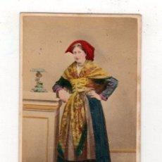 Fotografía antigua: CARTE DE VISITE COLOREADA. TIPOS PIRINEOS. ROMAN B. PAU. AÑO 1862. Lote 220847833