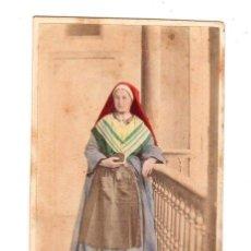 Fotografía antigua: CARTE DE VISITE COLOREADA. TIPOS PIRINEOS. ROMAN B. PAU. AÑO 1862. Lote 220847901