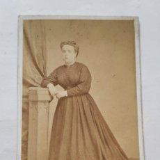 Fotografía antigua: CARTA DE VISITA FOTOGRAFIA DE JOAQUIN MASAGER DE GERONA EN BUEN ESTADO. Lote 221839422