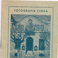 Fotografía antigua: MAIG 1936 FOLLETO DE FOTOGRAFÍA CERDÁ (TODAVÍA TODO EN CATALÁN) MOLINS DE REI. Lote 221969736