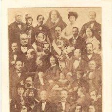 Fotografía antigua: 1869-70CA. FOTOGRAFÍA CDV CARTE DE VISITE ALBÚMINA DISDÉRI. MOSAICO ESPAÑOLES.. Lote 222069100