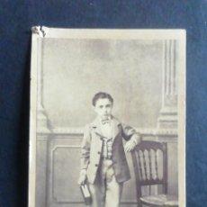 Fotografía antigua: FOTOGRAFÍA CARTE DE VISITE. GABRIEL DOMÍNGUEZ. MADRID. Lote 222654771