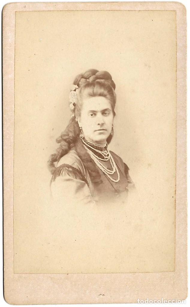 1870S CARTE DE VISITE ALBUMINA CDV FOTOGRAFÍA RODRIGUEZ MARTÍNEZI, MADRID (Fotografía Antigua - Cartes de Visite)