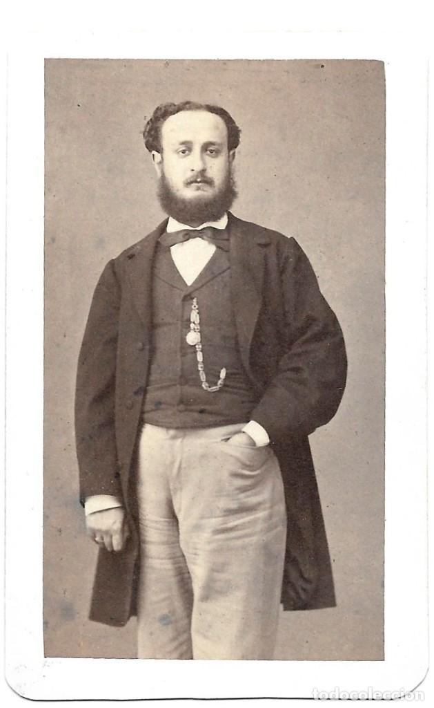 1870'S CARTE DE VISITE ALBUMINA CDV FOTOGRAFÍA LÓPEZ Y PERROCHON, MADRID (Fotografía Antigua - Cartes de Visite)
