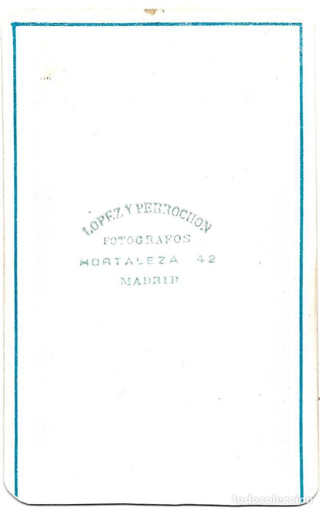 Fotografía antigua: 1870S CARTE DE VISITE ALBUMINA CDV FOTOGRAFÍA LÓPEZ Y PERROCHON, MADRID - Foto 2 - 228854890