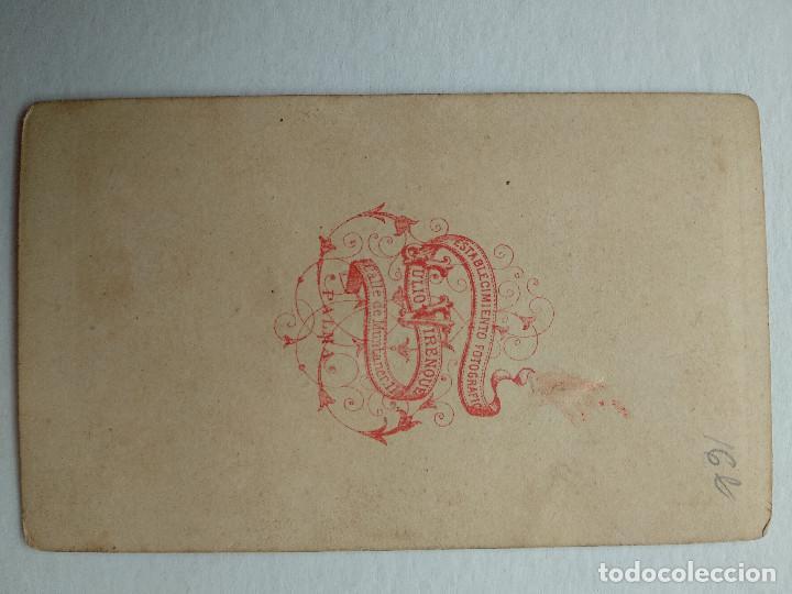 Fotografía antigua: ANTIGUA FOTOGRAFIA ALBUMINA DE MUJER, TIPO CDV, FOTO JULIO VIRENQUE, PALMA DE MALLORCA - Foto 2 - 228928495