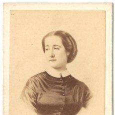 Fotografía antigua: 1860'S. FOTOGRAFÍA CDV CARTE DE VISITE ALBÚMINA DISDÉRI. EUGENIA DE MONTIJO EMPERATRIZ FRANCIA. Lote 229509175