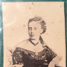 Fotografía antigua: DOÑA MARGARITA, REINA CARLISTA. FOTOGRAFÍA CDV. 1870. Lote 231070805