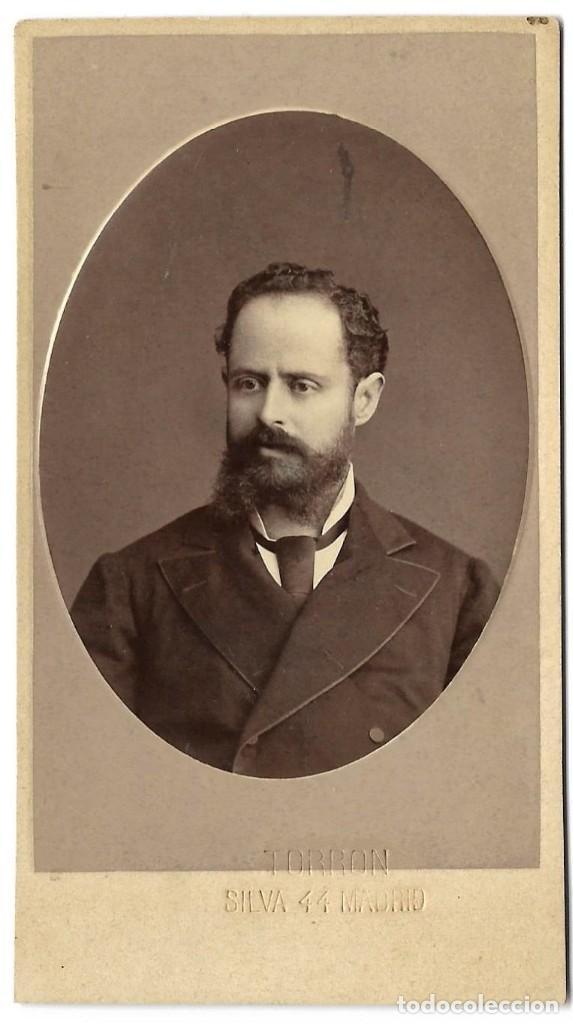 1870S FOTOGRAFÍA CARTE DE VISITE ALBUMINA CDV FOTÓGRAFO TORRON MADRID (Fotografía Antigua - Cartes de Visite)