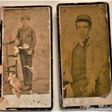 Fotografía antigua: DOS RETRATOS DE NIÑOS MUY ANTIGUOS - FOTÓGRAFO SIN IDENTIFICAR SEGURAMENTE ZONA JÁTOVA O SEGORBE. Lote 233584870