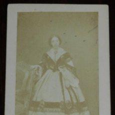 Fotografía antigua: CDV J. LAURENT, DE LA INFANTA CRISTINA DE BORBON LA BOBA, MIDE 10,5 X 6,5 CMS.. Lote 234358840