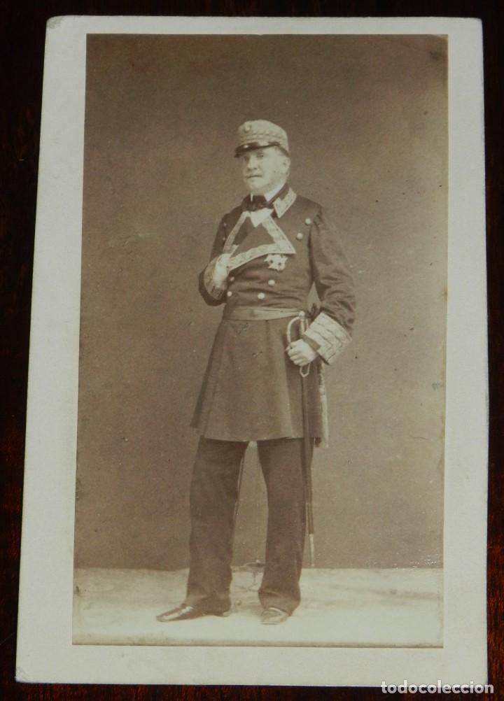 CDV J. LAURENT, EL GENERAL O´DONELL, MIDE 10,5 X 6,5 CMS. (Fotografía Antigua - Cartes de Visite)