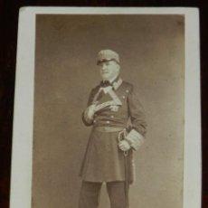 Fotografía antigua: CDV J. LAURENT, EL GENERAL O´DONELL, MIDE 10,5 X 6,5 CMS.. Lote 234364230