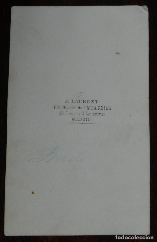 Fotografía antigua: CDV J. LAURENT, SR. REGUERA (pone a mano en lapiz Busto), MIDE 9 X 5,4 CMS. - Foto 2 - 234365420