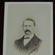 Fotografía antigua: CDV J. LAURENT, RETRATO DE CABALLERO, MIDE 11 X 6,4 CMS.. Lote 234369655