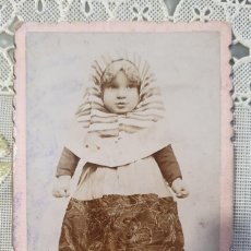 Fotografía antigua: CARTA DE VISITA FOTOGRAFIA MADRILEÑA. ESTADO EL DE LA FOTO. Lote 243595105